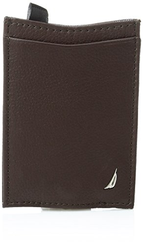 Nautica Men's Milled Credit Card Holder with Money Clip