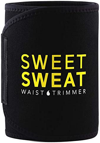 Sports Research Sweet Sweat Premium Waist Trimmer (Yellow Logo) for Men & Women.