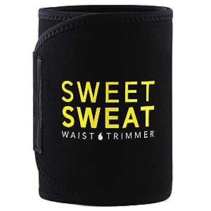 Sweet Sweat Waist Trimmer – Black/Yellow Logo | Premium Waist Trainer Belt for Men & Women