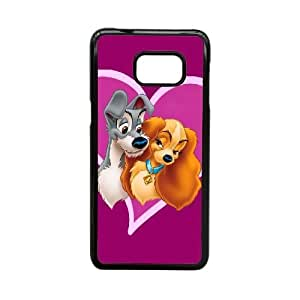 Generic for Samsung Galaxy S5 Edge Cell Phone Case Black Lady and the Tramp Custom HHGKAOJFD2460