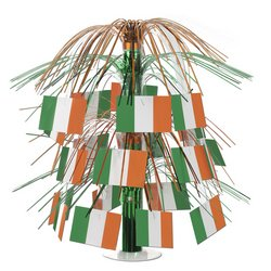 Costumes Ireland Themed (Irish Flag Cascade Centerpiece Party Accessory (1 count))