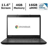 Newest Black Lenovo N23 11.6-inch Chromebook, Intel Celeron N3060 Dual Core Processor, 4GB Memory, 16GB eMMC, Bluetooth, Wifi, Webcam