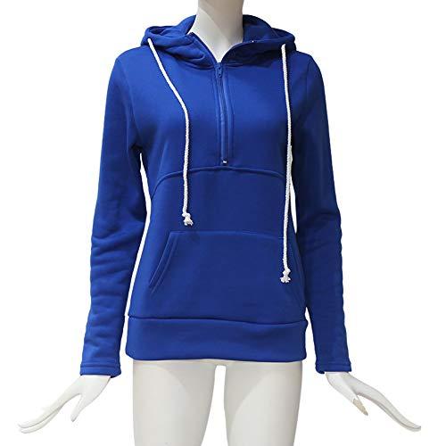 Sudadera con Manga Larga Mujer SunGren Solid Jumper Pullover Tops Blusa con Cremallera Lady Camisa: Amazon.es: Ropa y accesorios
