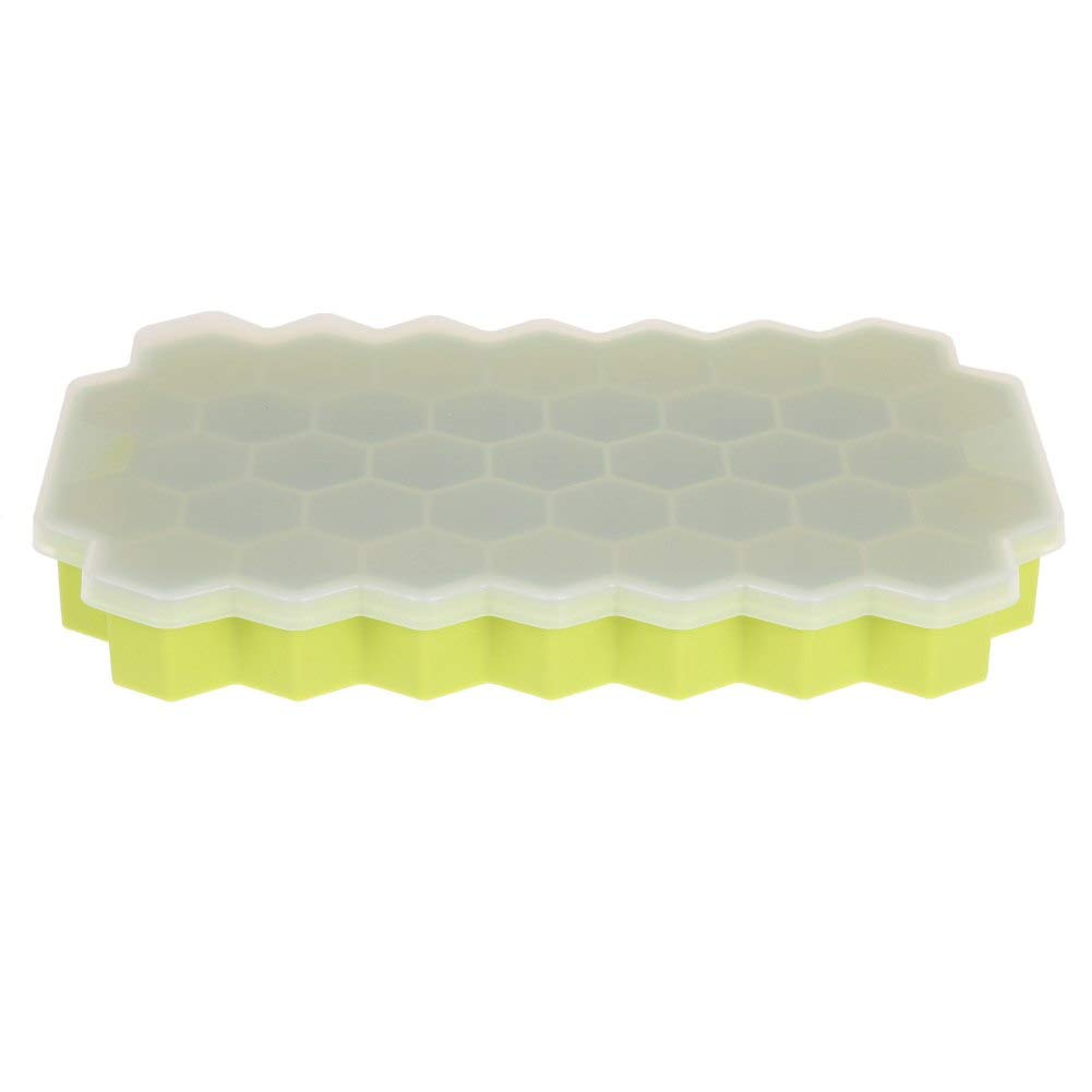Popsicle Molds - 37 Grids Yogurt Ice Box Fridge Silicone Cream Honeycomb Maker M Mould Icle Molds With Cover - Bags Diamond Cheap For American Sticks Toddler Tovolo Friendly Disposable