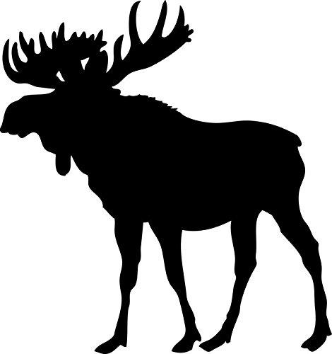 Moose Vinyl Decal Sticker | Cars Trucks Walls Vans Windows Laptops | Black | 5.5 X 5.1 Inches | KCD1831B
