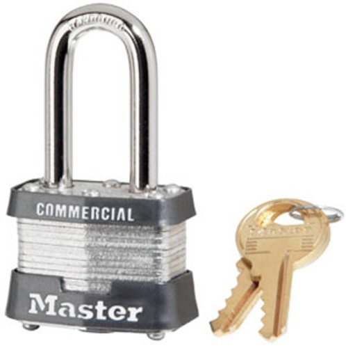 Master Lock Padlock, Laminated Steel Lock, 1-9/16 in. Wide, 3KALF (Master Commercial Padlock)