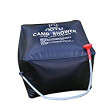 Solar Heated Camp Resistant PVC Material Pipe Bag Camp Shower Bag Solar Shower Bag for Camping&Hiking with On/Off Nozzle