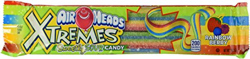 Airheads Extremes Sour Candy, Rainbow Berry, 2 Ounce