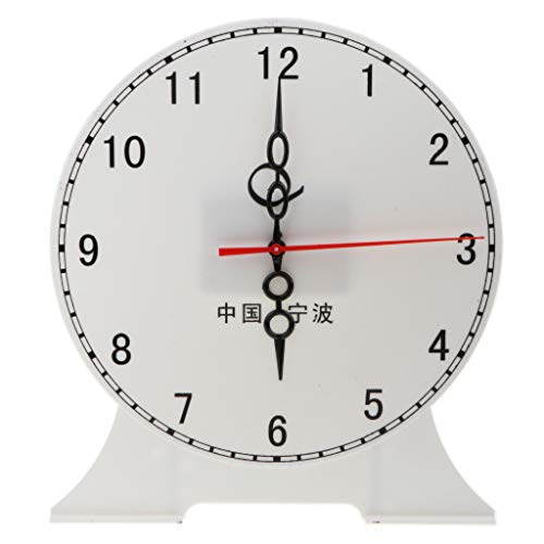 Flameer 9.45'' Children Teaching Clock Learn How to Tell Time Classroom Learning Clock - 12 Hour Clock B