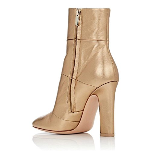 Dress Block God Ankle Booties Chunky Heels Matt Stilettos Jushee Pumps Boots High For Women Shoes qSY6c8Exw