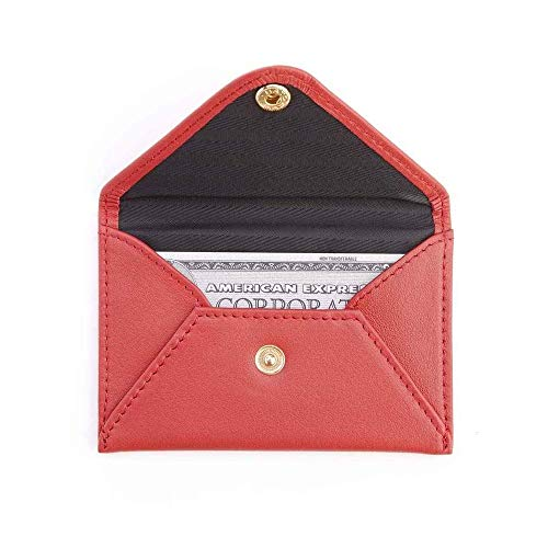 Royce Red Genuine Leather Envelope Card Case 425-RED-5