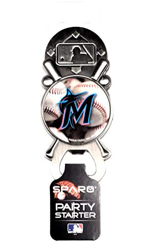 Rico Industries, Inc. Miami Marlins New Blue Logo Party Starter Magnetic Metal Pewter Magnet Bottle Opener Baseball