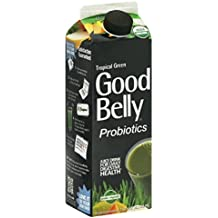 GoodBelly Tropical Green Probiotic Drink, 32 Ounce -- 6 per case.