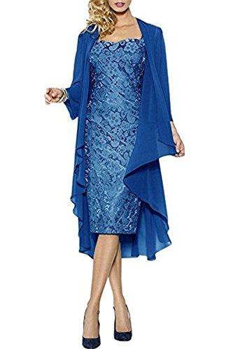 mamma in da serata e elegante da o per per pizzo ideale sposa abito della la Blau sera matrimonio CoCogirls danzante giacca con qHX60w4q