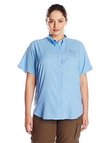 Plus Size Sportswear (Columbia Women's Plus-Size Tamiami II Short Sleeve Shirt, White Cap, 2X)