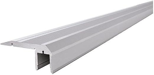 Perfil LED al de 02 – 10 Escaleras de perfil para 10 – 11,3 mm LED stripes, aluminio anodizado, 1500 mm: Amazon.es: Iluminación