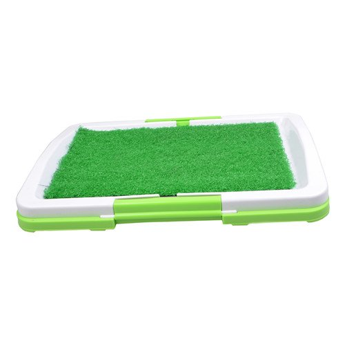 QNMM Pet Indoor Toilet Portable Indoor Puppy Toilet Training Grass Mat Training Pet Potty Dog Training Pads Grid Puppy Toilet