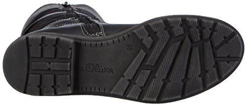 s.Oliver 56602 Mädchen Halbschaft Stiefel Schwarz (Black 001)