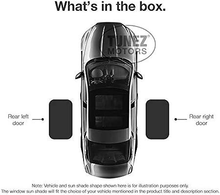 Compatible avec Nissan X-Trail 5dr ann/ée 2001-2009 Pare-soleil de fen/être lat/érale personnalis/és Pare-soleil arri/ère magn/étique de porte lat/érale TUNEZ/® Parasols