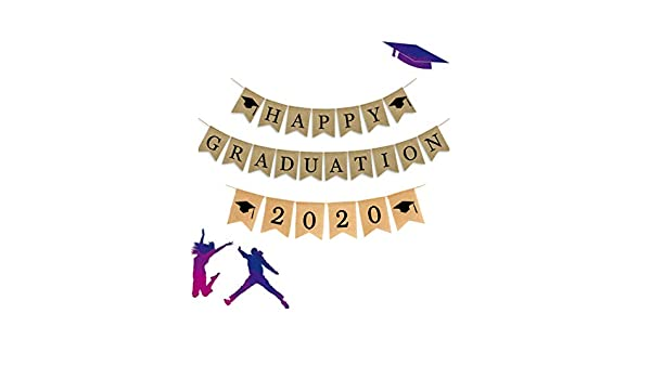 JUNICON Happy Graduation 2020 - Pancarta de arpillera, estilo ...