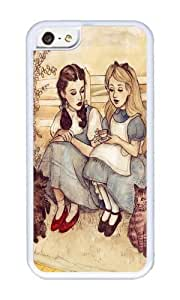linJUN FENGApple iphone 5/5s Case,WENJORS Adorable Dorothy and Alice Soft Case Protective Shell Cell Phone Cover For Apple iphone 5/5s - TPU White