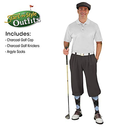 Golf Knickers Start-in-Style Outfit - Mens - Charcoal - Size 36 -