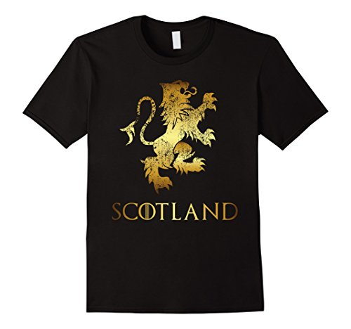 Mens Funny Scotland Lion Rampant T-Shirt Scottish Kilts Gift Tee 3XL - Lion Kilt Rampant
