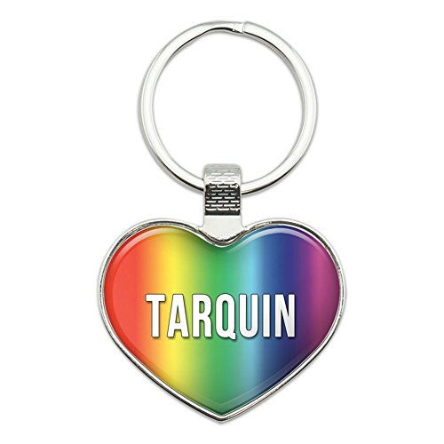 Price comparison product image Graphics and More Metal Keychain Key Chain Ring Rainbow I Love Heart Names Male T Tad - Tarquin