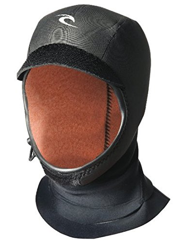 Rip Curl Flash Bomb 3mm Gb Hood, Black/Black, Large ()