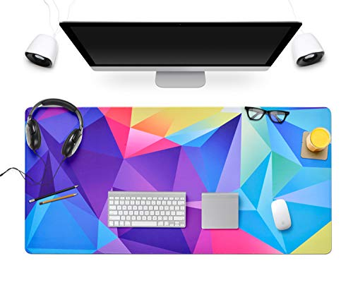 Large Gaming Mouse Pad Extended Mousepads Keyboard Pad Water-Resistant Desk Pad, Desk Writing Mat with Non-Slip Stitched Edges XXL(800×400×3mm)-Graphics Design