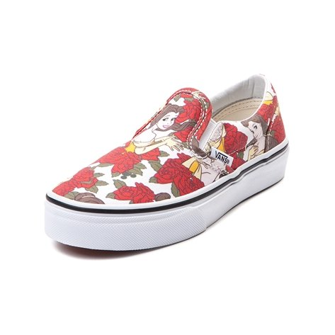 50588dac220757 Vans Disney Kids True White   Red Princess Belle Sneakers  Amazon.ca  Shoes    Handbags