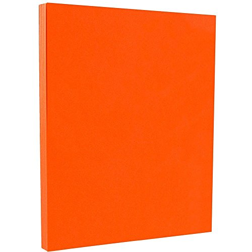 JAM PAPER Colored 24lb Paper - 8.5 x 11 - Orange Recycled - 100 Sheets/Pack