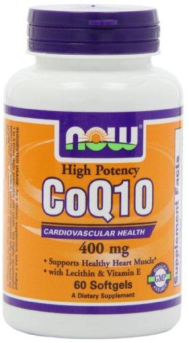 NOW Foods CoQ10 400 mg, gélules 60