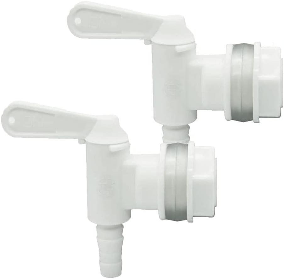 RLECS 2pcs Plastic Bottling Spigot Filler Spout Bucket Spigot Fermenter Tap Faucet for Homebrew Wine Making Beer, White