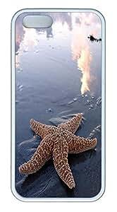 iPhone 5 5S Case Starfish TPU Custom iPhone 5 5S Case Cover White