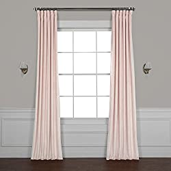 HPD Half Price Drapes VPYC-161207-108 Heritage Plush Velvet Curtain, 50 x 108, Ballet Pink