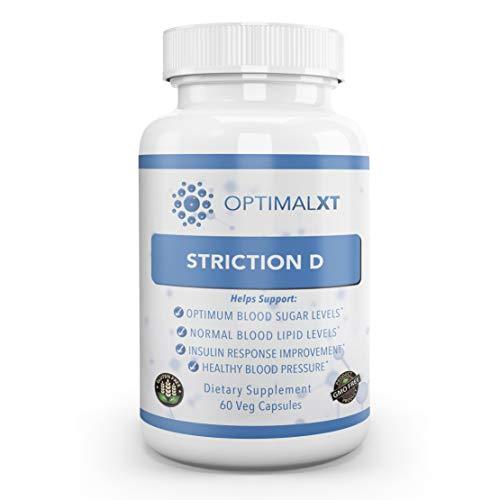 Best Blood Sugar Support Supplement w/GlucoHelp & Ceylon Cinnamon  StrictionD