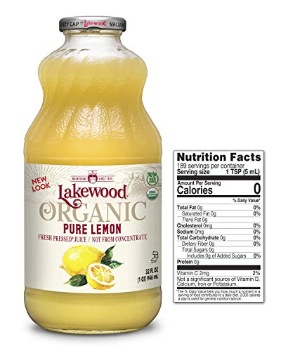 - Lakewood Organic Pure Lemon, 32 Ounce (Pack of 6)