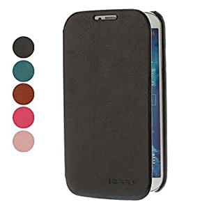 Zaki-PU Leather Case for Samsung Galaxy S4 I9500 (Assorted Colors) , Black