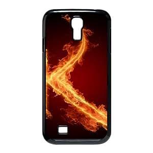 Samsung Galaxy S4 Case, Burning Letter K Case for Galaxy S4 Black Leemarson sf4110799