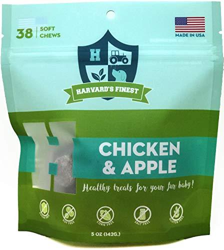 Harvard's Finest Healthy Dog Treats, 38 Soft Chews, Gluten Free, Soy Free, Sugar Free, Salt Free, Corn Free (Chicken…