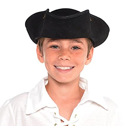 e7c956257b9 Image Unavailable. Image not available for. Color  Deluxe Tricorn Hat ...