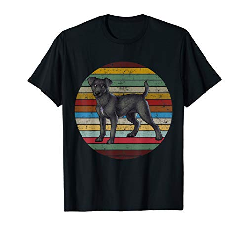 Vintage Retro Patterdale Terrier Dog Lovers T Shirt