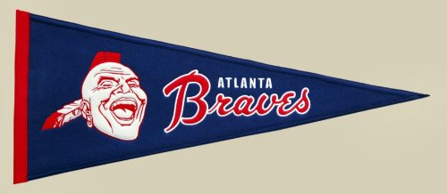 MLB Atlanta Braves Medium Throwback Pennant (Pennant Traditions Vintage)