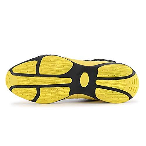 jaune Mesh Rouge B Automne Hy Course Pied Chaussures Vélo Sport Pour Confort chaussures Taille À printemps 34 couleur trekking De Hommes YU0aY