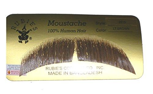 2015 (Light Brown) Human Hair Mustache ()