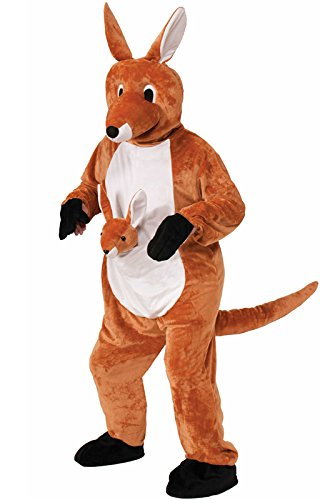 Forum Novelties Women's Jumpin Jenny The Kangaroo Plush Mascot Costume, Brown, One Size