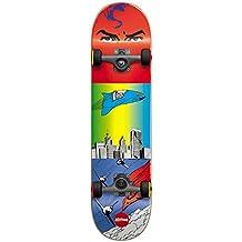 Almost 10523136Y Superman Flight Complete Skateboard, 7.0MN, Red/Blue