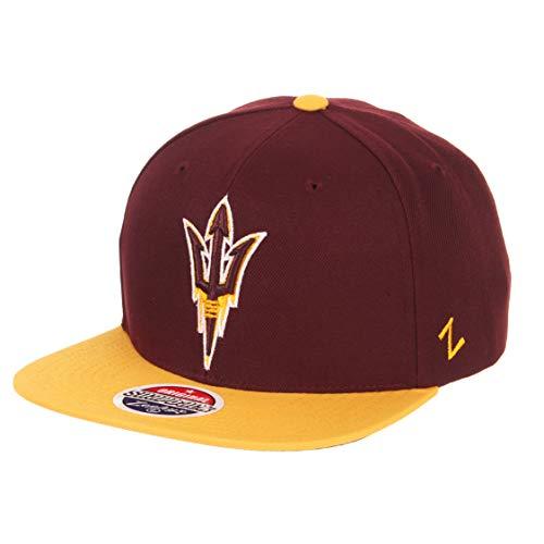 Zephyr NCAA Arizona State Sun Devils Men's Z11 Invert Snapback Hat, Adjustable, - Cap Arizona Sun State Devils