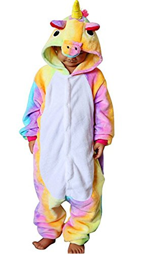 Children Animal Onesie Pajamas Unicorn Kigurumi Cosplay Costume Cute Sleepwear - Cute Unicorn Costume